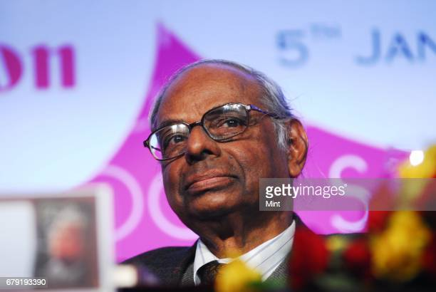 Home Minister P Chidambaram and C Rangarajan Chairman of the Prime Minister's Economic Advisory Council photographed during the Financial Inclusion...