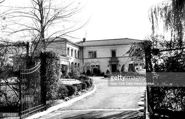 Home of Albert Anastasia at 75 Bluff Road Fort Lee New Jersey 75 foot entrance and big gate Admittance could only be gained after proper check