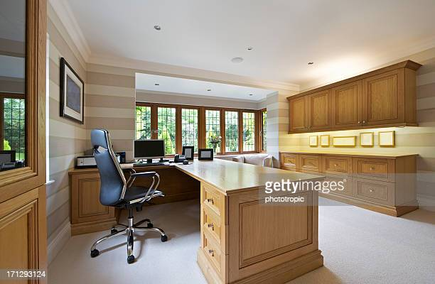 home office in light oak
