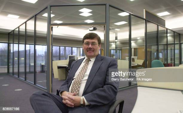 Home Office Under Secretary Bob Ainsworth sits in the permanent joint Fire Police and Ambulance control room at Police HQ in Devizes Wiltshire * The...
