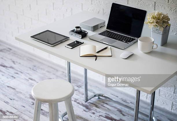 Home office with work desk