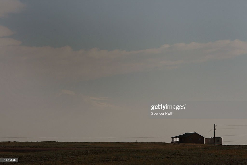 A home on an isolated stretch of land June 26 2007 in Laramie Wyoming While Wyoming is the least populous of any state in America it is also a...