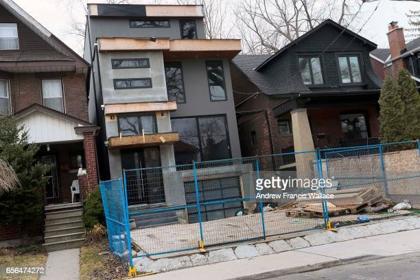 TORONTO ON FEBRUARY 28 A home on Winona Dr under renovation February 28 2017 Real Estate stock images