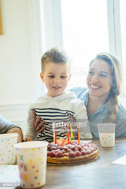 Home Party With Family For Little Boy's Birthday