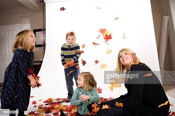 Casa foto estudio con cuatro hijos