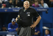 Home plate umpire Bob Davidson during the Boston Red Sox MLB game against the Toronto Blue Jays on April 7 2013 at Rogers Centre in Toronto Ontario...