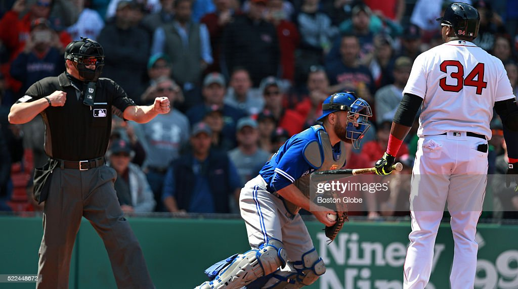 Home Plate Umpire Will Little Left Rings Up Boston Red Sox Pinch Hitter David