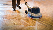 Home renovation, parquet sanding, polishin