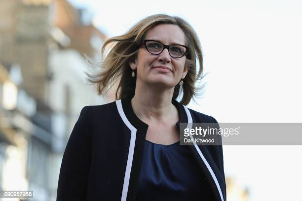 Home Secretary Amber Rudd arrives ahead of the BBC Leader's Debate on May 31 2017 in Cambridge England Six Leaders of the Seven political parties...
