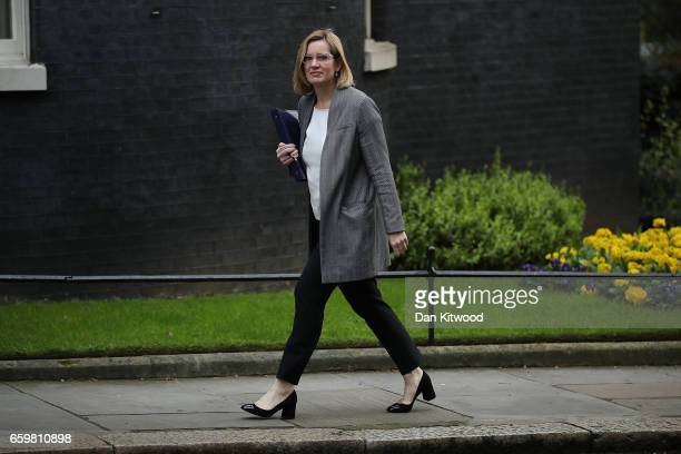 Home secretary Amber Rudd arrives for a cabinet meeting at 10 Downing Street on March 29 2017 in London England Later today British Prime Minister...