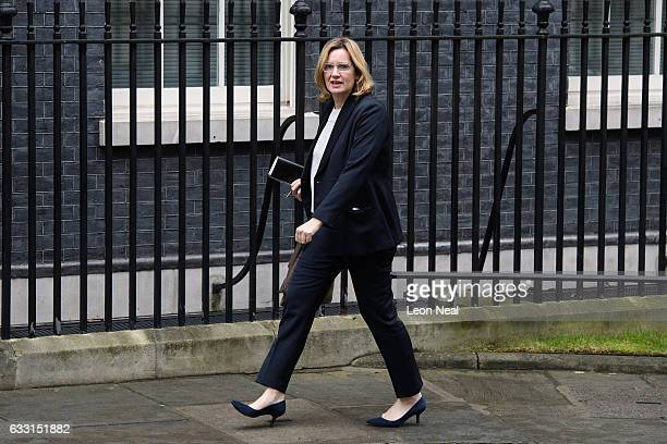 Home Secretary Amber Rudd arrives for the weekly Cabinet meeting at Downing Street on January 31 2017 in London England The Government is set to...