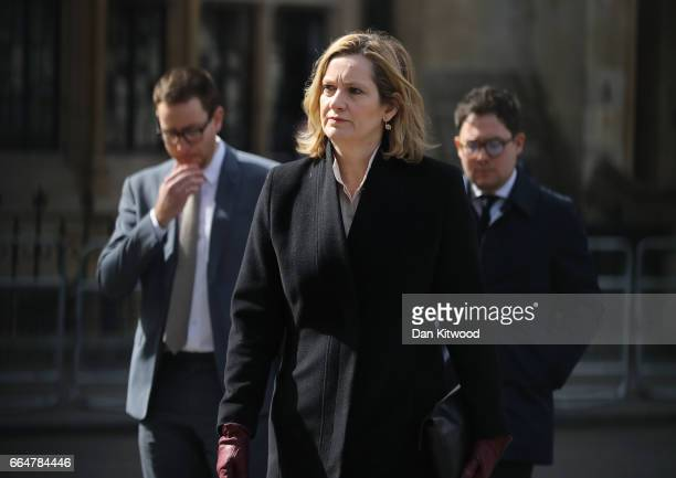 Home Secretary Amber Rudd attends Service of Hope at Westminster Abbey on April 52017 in London United Kingdom The multifaith Service of Hope was...
