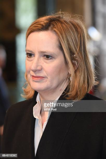 Home Secretary Amber Rudd attends the Service of Hope at Westminster Abbey on April 52017 in London United Kingdom The multifaith Service of Hope was...