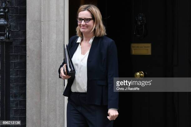 Home Secretary Amber Rudd leaves 10 Downing Street on June 15 2017 in London England Prime Minister Theresa May is due to hold a series of meetings...
