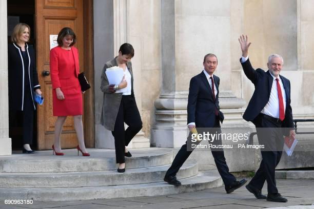 Home Secretary Amber Rudd Plaid Cymru leader Leanne Wood Green Party coleader Caroline Lucas Liberal Democrats leader Tim Farron and Labour leader...