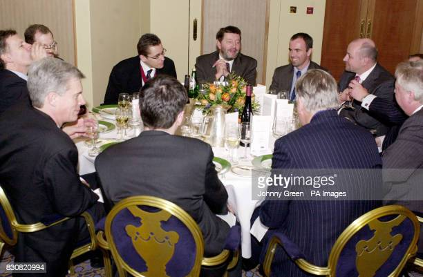 Home Secretary David Blunkett enjoys lunch with among others Chairman of the Newspaper Conference Matthew George from the Western Daily Press and the...
