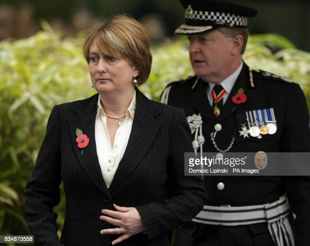 Home Secretary Jacqui Smith and Metropolitan Police Commissioner Sir Ian Blair at the annual Metropolitan Police memorial service for police officers...