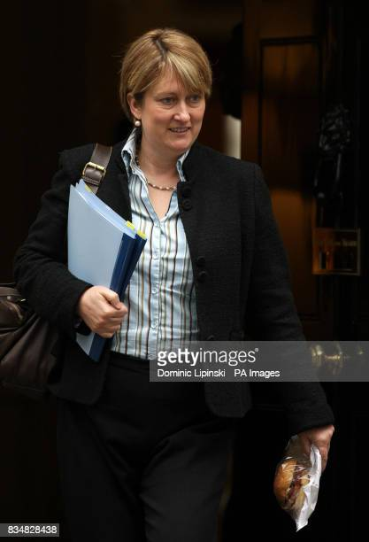 Home Secretary Jacqui Smith leaves a cabinet meeting at Downing Street London