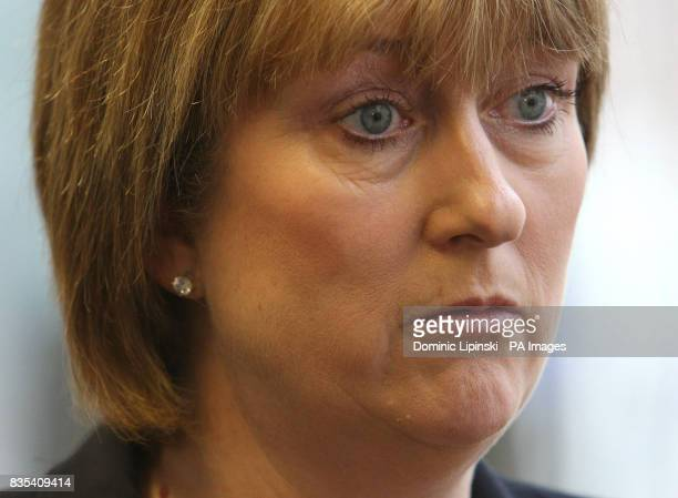 Home Secretary Jacqui Smith speaks at a press conference on identity cards at Centre Point in central London