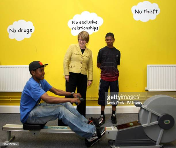 Home Secretary Jacqui Smith visits the Fairbridge youth referral centre in Kennington south London to launch new projects to support young crime...