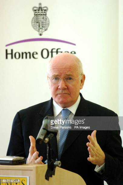 Home Secretary John Reid addressing Demos think tank on security and immigration in south east London