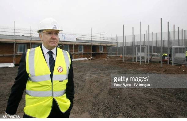 Home Secretary John Reid on a site visit to a new prison on Merseyside PRESS ASSOCITION Photo