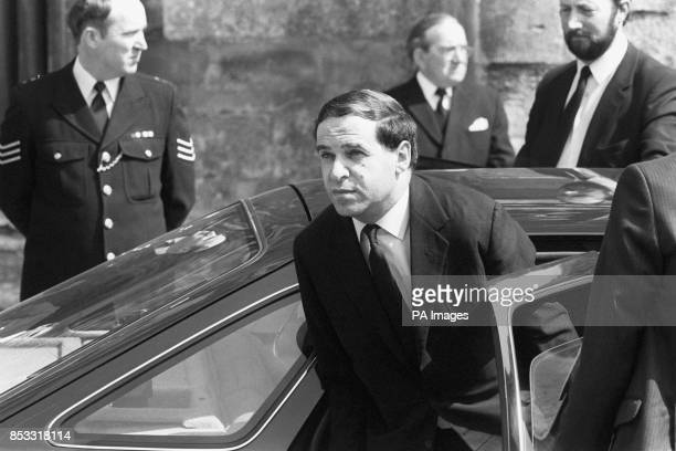 Home Secretary Leon Brittan arrives at Salisbury Cathedral for the funeral service of WPC Yvonne Fletcher of Bow Street Police Station London who...