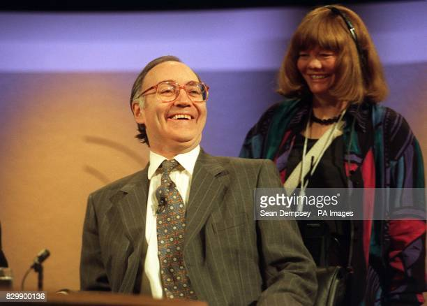 Home Secretary Michael Howard in a jovial mood this evening as he prepares for tonight's edition of the BBC political programme Question Time The...