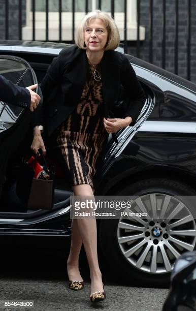 Home Secretary Theresa May arrives for a cabinet meeting at 10 Downing Street London after Prime Minister David Cameron confirmed that new laws are...