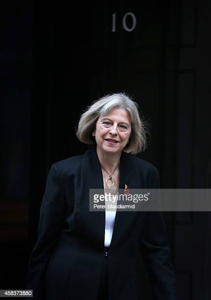 Home Secretary Theresa May leaves Downing Street after attending cabinet on November 4 2014 in London England Liberal Democrat MP Norman Baker has...