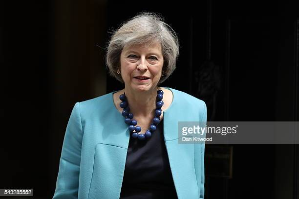 Home Secretary Theresa May leaves Downing Street following a cabinet meeting on June 27 2016 in London England British Prime Minister David Cameron...
