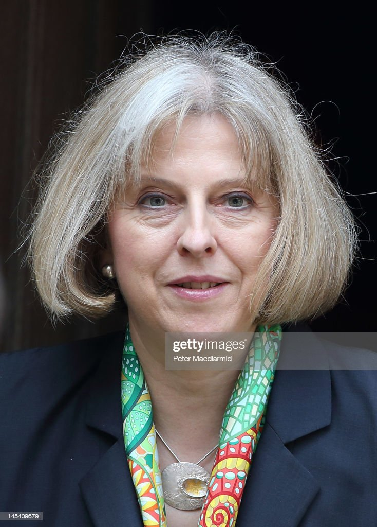 Home Secretary Theresa May leaves The Royal Courts of Justice after giving evidence to The Leveson Inquiry on May 29 2012 in London England This...