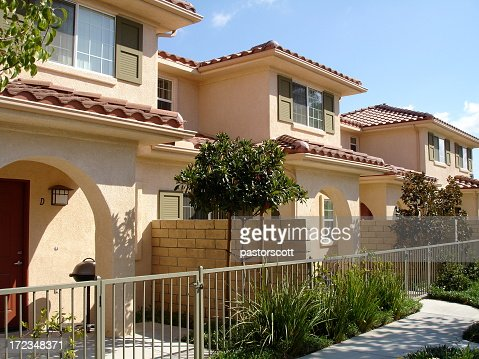 Stucco Homes Photos Stock Photos And Pictures Getty Images