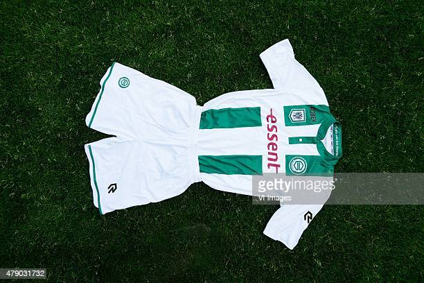 home shirt of FC Groningen during the team presentation of FC Groningen on June 29 2015 at the Euroborg in Groningen The Netherlands
