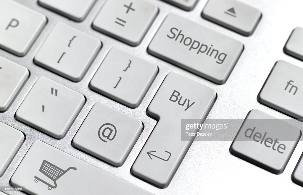 Home shopping online keyboard : Stock Photo