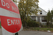 A home sits abandoned in the 2200 block of Massachusetts Street October 21 2014 in Gary Indiana According to police Darren Deon Vann allegedly left...