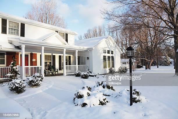 Home Schnee Haus Winter Dawn Morgen – Horizontal