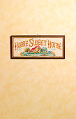Home sweet home sampler with copy space
