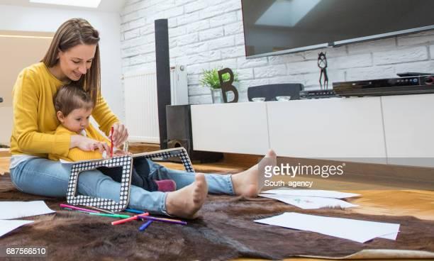 Home teaching to draw