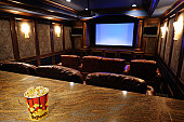 Home Theater With Focus On Popcorn
