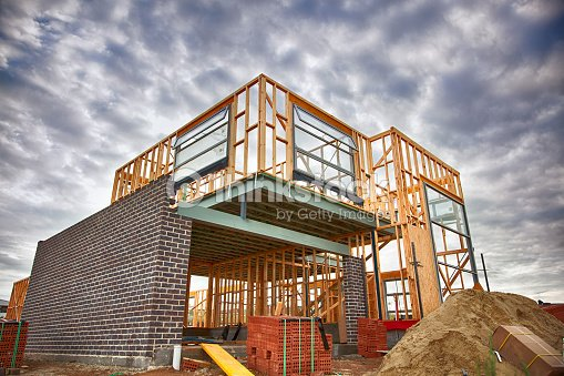 Home under construction : Stock Photo