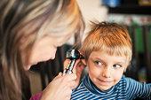 Home visit medical ear examination