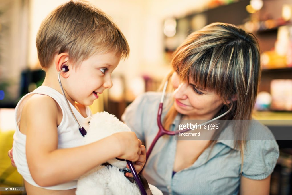 Home visit medical examination : Stock Photo