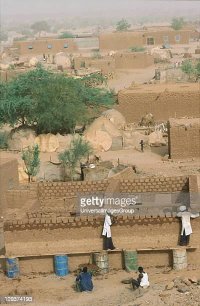 Homebuilding Niger Tahoua Village Building Mud Brick Houses