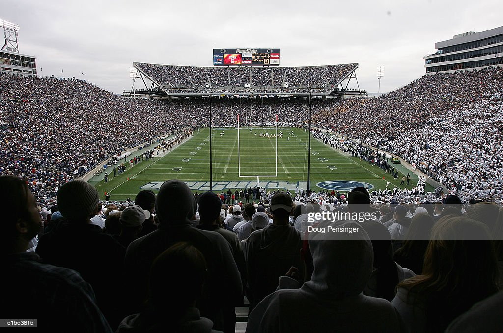 A homecoming crowd of 108062 pack the stands as the Iowa Hawkeyes defeated Penn State Nittany Lions 64 during NCAA football at Beaver Stadium on...