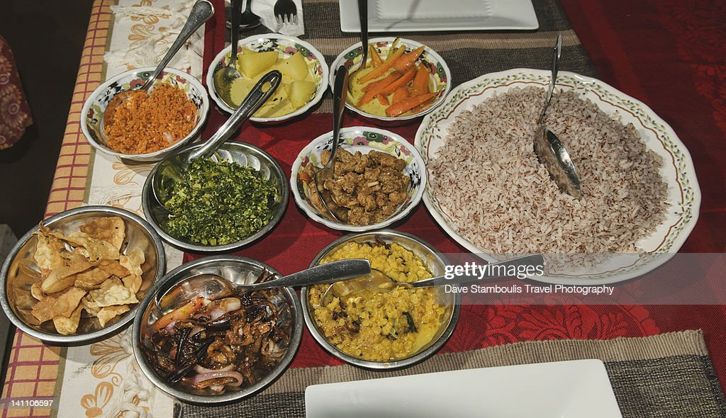 Homecooked Sri Lankan curries