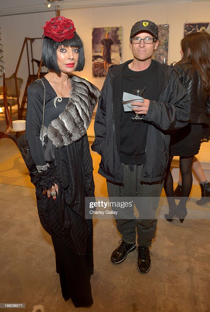 Homeira Goldstein (L) and Simon Ouwerkerk attend High Fashion/2013 MOE Aliona Kononova Collection, brought to you by the all-new Lincoln MKZ, hosted by Joel Chen and Lyn Winter at C Project on December 12, 2012 in Los Angeles, California.