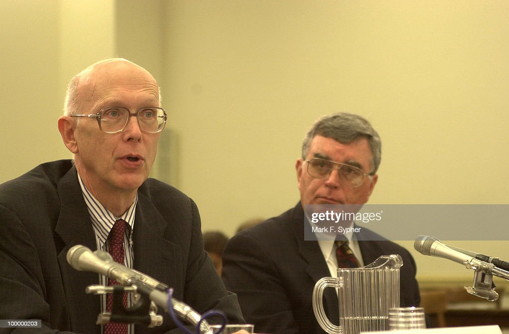 Homeland defense specialists, Dr. George Whitesides and Dr. Roger Hagengruber testify on Wednesday at the Subcommittee on Terrorism and Homeland Security.