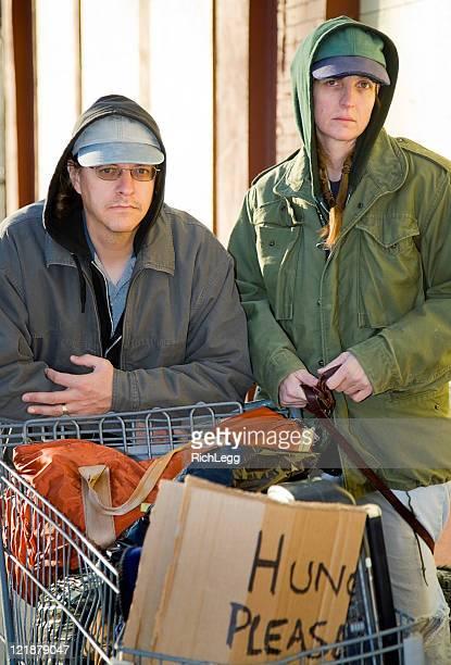 Homeless Couple on a City Street