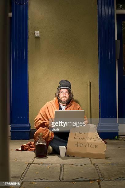 Homeless Financial Advisor